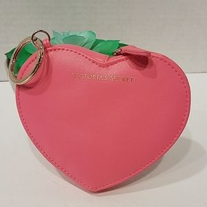 Victoria's Secret Pink Heart Keychain & Coin Purse